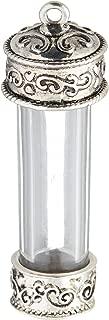 Solid Oak Steampunk Large Vial Glass Pendant (1 Pack)