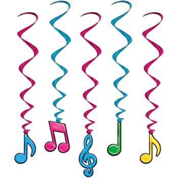 Beistle 57102 1-Pack Musical Notes Sign Banner 5-Feet by 21-Inch