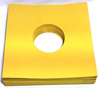 (100) 78rpm Record Sleeves Golden Brown Paper Acid-Free 28lb. Stock 78 RPM Phonograph Vinyl Record Album Inner 10-inch (10in.) Victrola 78s Collector-Style Inners