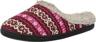 Dearfoams Df Women's Textured Knit Clog Slipper