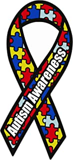Autism Awareness Ribbon Car Bumper Sticker 3