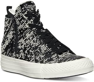 Womens Selene Winter Knit Black/Light Gold/Egret Size 8 High-Top Casual Sneakers