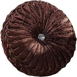 Zituop Home Decorative Round Pumpkin Throw Pillows, 13.8-inch (brown)
