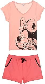 Disney Minnie Mickey Maus Kurzärmlig Pyjamas Satz Damen Teenager