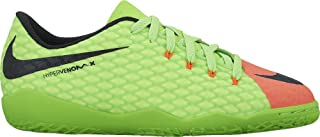 Nike - JR Hypervenomx Phelon Iii IC - 852600308 - Color: Red-Green - Size: 4 Big Kid