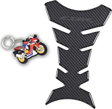 REVSOSTAR Motorcycle Sticker, Vinyl Decal Emblem Protection, Gas Tank protector, Grey Tank Pad for All CBR Models, CBR600 1000 954 929 900 RR CBR 250 300 500 650F 1100 with keychain, 2Pc Per Set