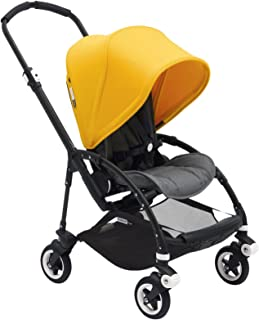 Bugaboo Bee5 Complete Stroller, Black/Sunrise Yellow - Compact, Foldable Stroller for Travel and Urban Life. Easy to Steer on City Streets & Tight Turns! The Most Popular Lightweight Stroller!