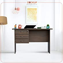 Deckup Reno Office Table and Study Desk (Walnut, Matte Finish)