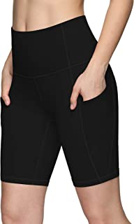 PHISOCKAT Workout Shorts for Women with Pockets Biker Shorts for Women High Waisted Compression Running Yoga Shorts