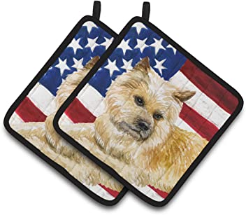 Multicolor Carolines Treasures Easter Wheaten Terrier Pair of Pot Holders 7.5HX7.5W