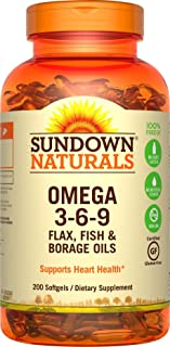 Sundown Triple Omega 3-6-9 Soft Gels, 200 Count