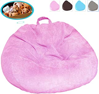 Bean Bag Chair (No Filler), Ultra Soft Premium Corduroy Bean Bag Covers Extra Sturdy Zipper and Double Suture for Organizing Children Plush Toys or Memory Foam, for Kids and Adults