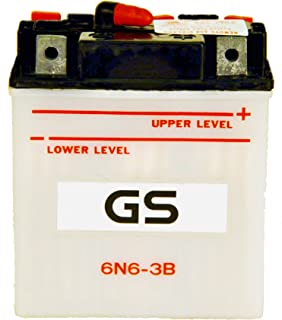 6N6-3B with Acid Pack by GS BATTERY, a subsidiary of GS YUASA; The World's Leading Manufacturer of Powersports Batteries