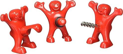 Happy Man Bottle Stopper, Corkscrew and Bottle Opener Set of 3