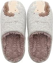 Colias Wing Hedgehog Pattern Warm Winter Indoor Outdoor Slippers for Women