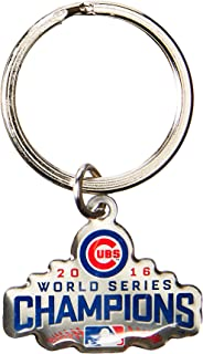 FOCO MLB Chicago Cubs 2016 World Series Champions Metal Logo Keychain, Blue, One Size