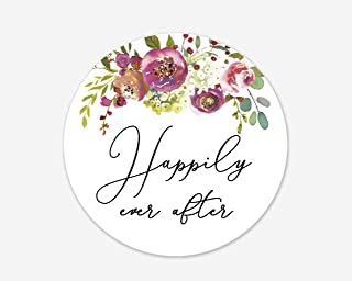 Happily Ever After Stickers, Wedding and Bridal Shower Event Favor Labels (#379-020)