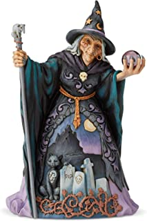 Enesco Jim Shore Heartwood Creek Witch with Crystal Ball