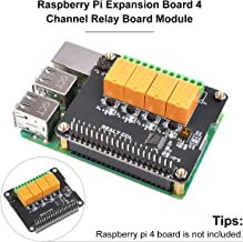 MakerFocus Raspberry Pi Expansion Board 4 Channel Relay Board Module Power Relay Module for Raspberry Pi 4B/3 Model B+/Raspberry Pi 3/2 Model B (No Programming Required/Programmable)