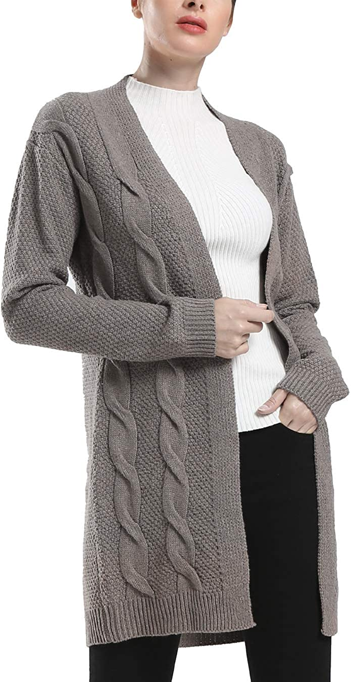 Rocorose Store Women's Boho NEW before selling Long Sleeves Knited Cardi Cable Front Open