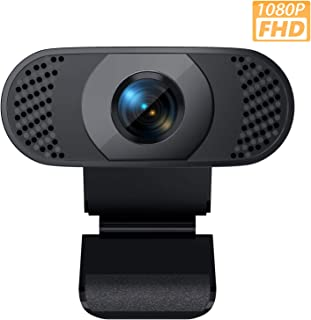 Webcam with Microphone, Wansview 1080P Web Camera for Windows/Mac OS PC, Laptop, Computer, Desktop, USB 2.0 Plug and Play, for Live Streaming, Video Call, Conference, Recording, Online Classes, Game