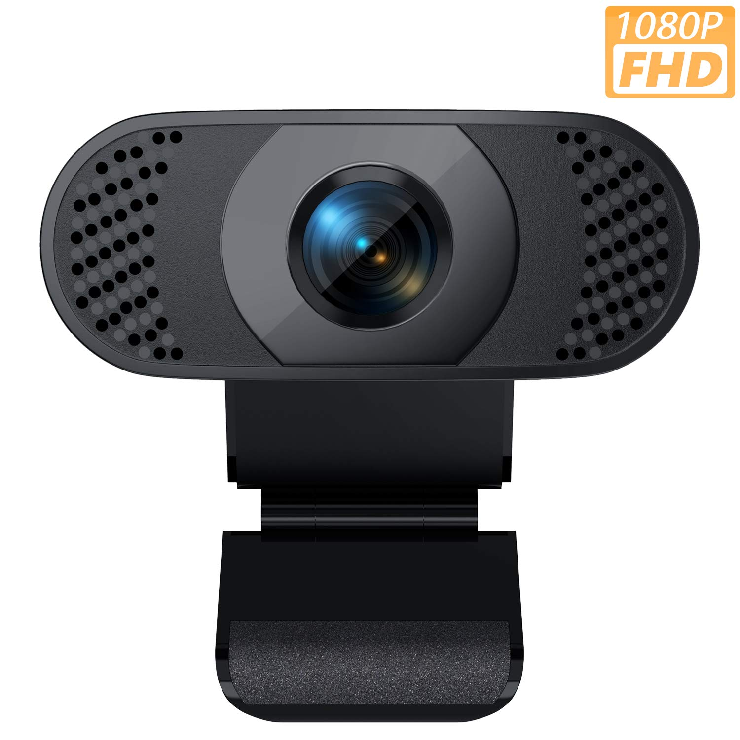 Webcam with Microphone 1080P HD Web Camera USB Computer Camera for Laptop Desktop PC Mac Video Calling Recording Streaming Online Teaching Business Conference Gaming