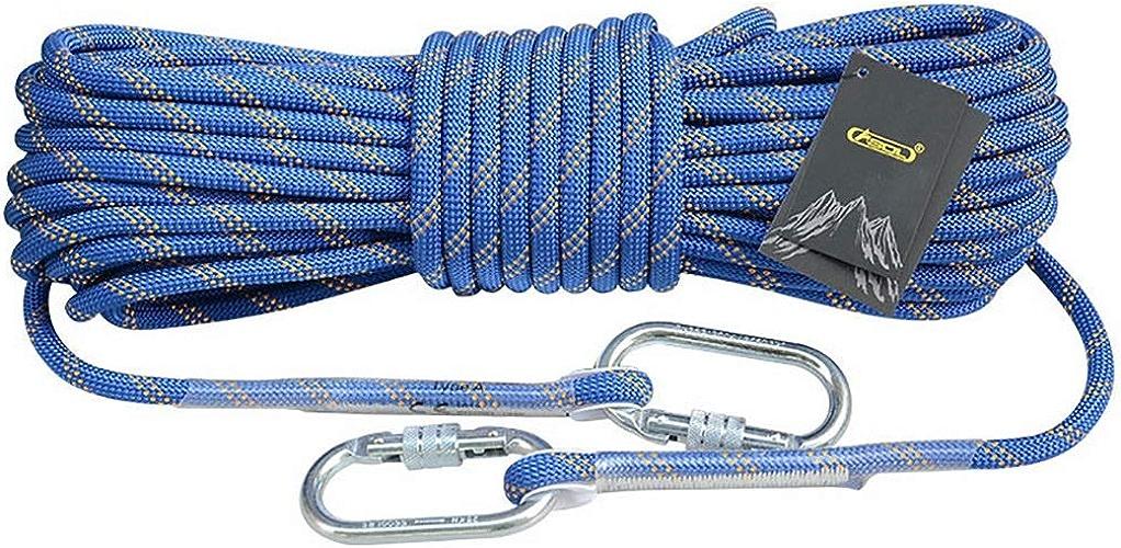 LXYFMS Corde d'escalade Corde Statique Travail aérien Corde de Descente en Rappel diamètre extérieur 10.5 12   14mm Bleu Corde d'alpinisme (Taille   10.5mm 15m)