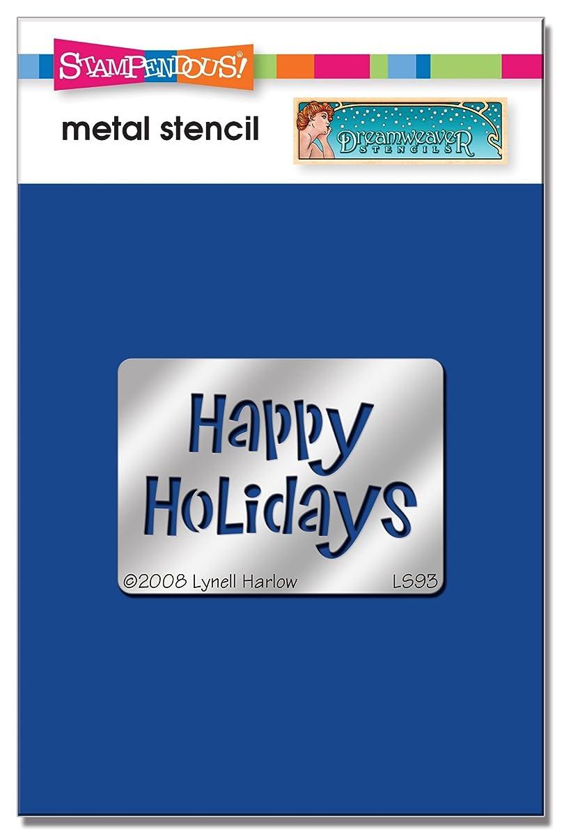 Stampendous DWLS93 Dreamweaver Stencil, Happy Holidays