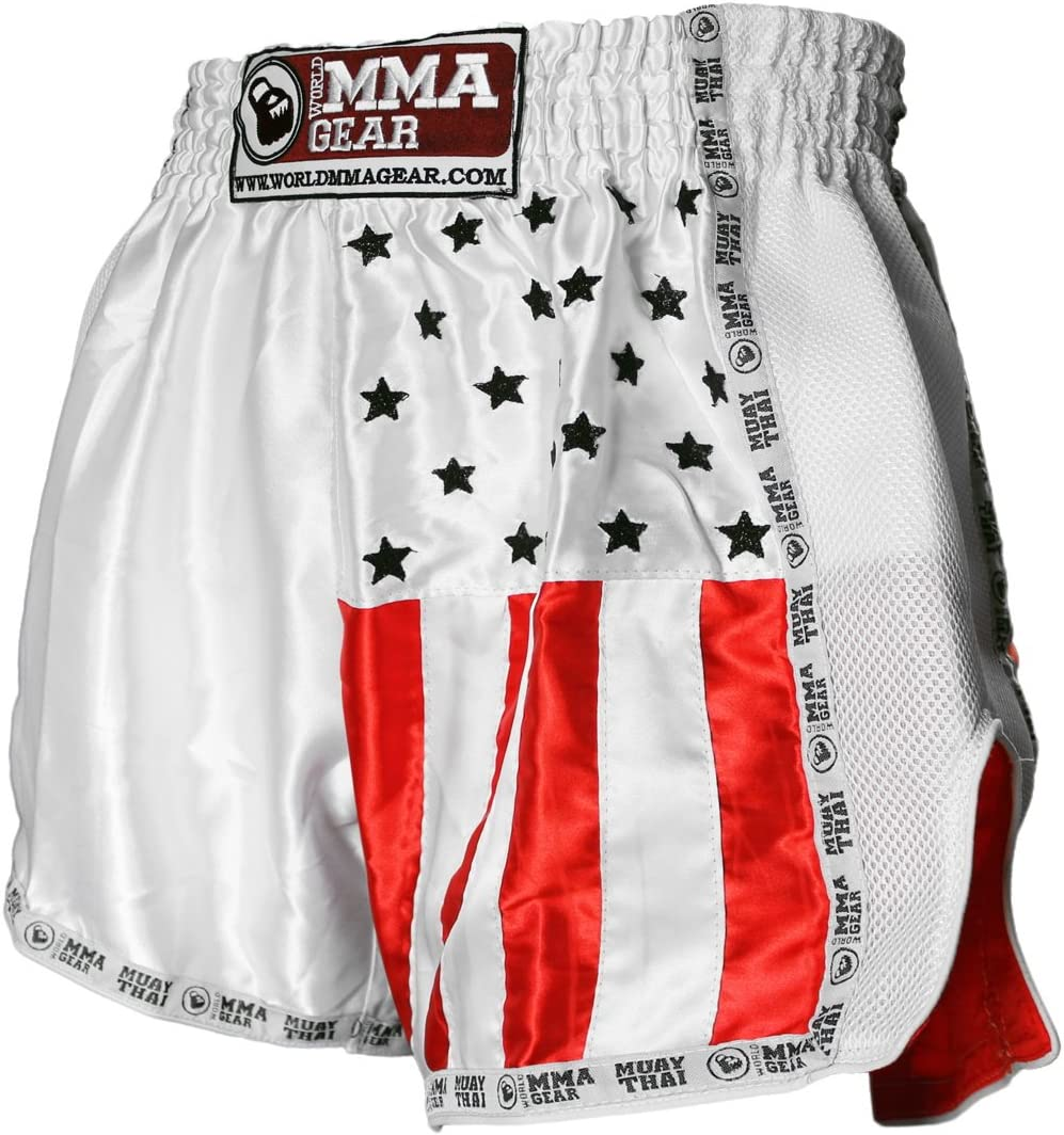 Purchase World MMA Soldering Gear Premium Muay Thai Shorts - Handmade Kickbox Retro