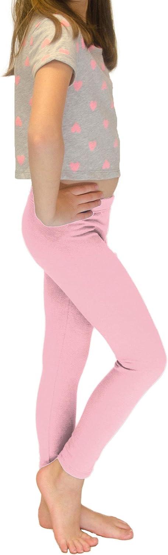 PrettyFashion Girls Plain Leggings Kids Full Length Leggings Childrens Basic Stretchy Leggings Teens Sports Leggings Ages 3-13 Multiple Colours Available