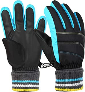 Boys Girls Winter Gloves Kids Ski Snow Snowboard Gloves...