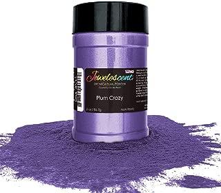 U.S. Art Supply Jewelescent Plum Crazy Mica Pearl Powder Pigment, 2 oz (57g) Shaker Bottle - Cosmetic Grade, Non-Toxic Metallic Color Dye - Paint, Epoxy, Resin, Soap, Slime Making, Makeup, Art