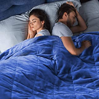 DreamZ 9KG Adults Size Anti Anxiety Weighted Blanket Gravity Blankets Royal Blue Blue