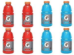 LUV BOX - Variety Gatorade Sports Drink Pack 32oz Plastic Bottle, 8 Per Case Fruit Punch, Cool Blue