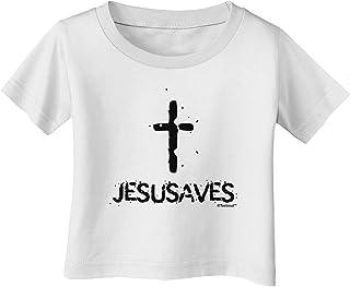 TooLoud JesUSAves Jesus Saves USA Design Baby Romper Bodysuit