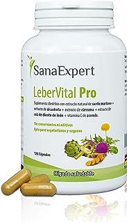 SanaExpert LeberVital Pro | LA PURIFICACIÓN PARA LOS RIÑONES | con extracto de cardo mariano, alcachofa, cúrcuma, raíz de ...