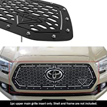 APS Compatible with 2018-2019 Toyota Tacoma with Front Sensor TSS Main Upper Stainless Steel Double Layer Laser Cut Rivet ...