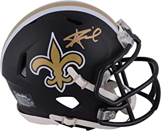 f588e88d8eb Alvin Kamara New Orleans Saints Autographed Riddell Black Matte Alternate  Speed Mini Helmet - Fanatics Authentic