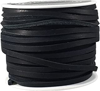 Lace Lacing Leather Topgrain Latigo Black 50 Foot Spool