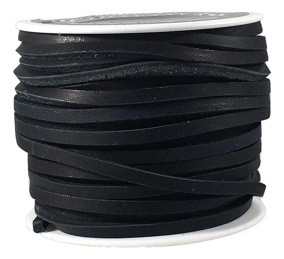 Lace Lacing Leather Topgrain Latigo Black 50 Foot Spool
