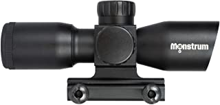 Monstrum Tactical 4x30 Ultra-Compact Rifle Scope with Illuminated Range Finder Reticle (Black)
