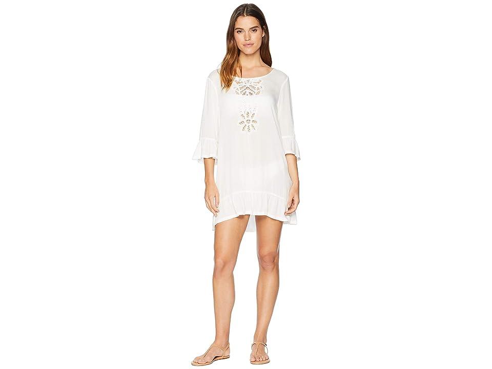 Roxy Goldy Soul Long Sleeve Dress Cover-Up (Marshmallow) Women