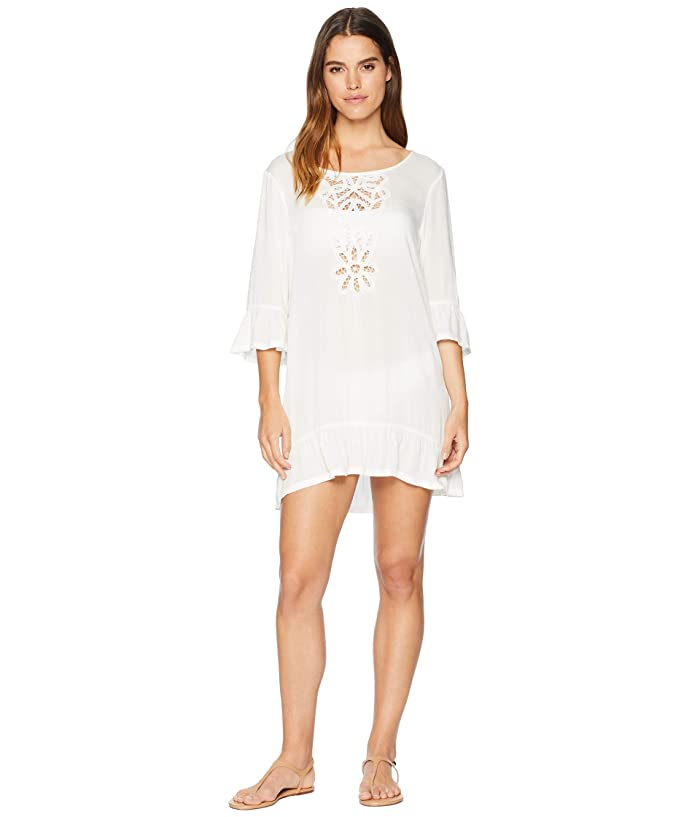 Roxy Goldy Soul Long Sleeve Dress Cover-Up (Marshmallow) Women