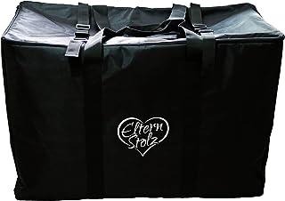 Gepolsterte Elternstolz Transporttasche Schwarz Für Kinderwagen, Buggys Und Autositze Buggy Stroller Bag z.B. Für Joie Mytrax Litetrax
