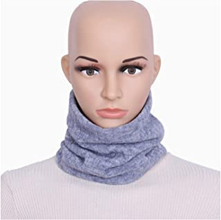 Plus Velvet Bib Fashion Wide Striped Scarf Men Women Solid Color Single Ring Collar,Perfect Accent to Any Outfit (Color : 05, Size : One Size)