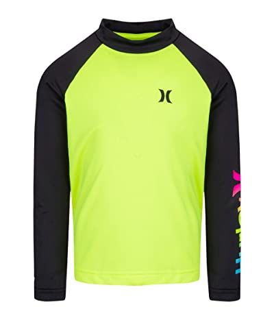Hurley Kids UPF 50+ Dry Rashguard Shirt (Little Kids) (Volt) Boy