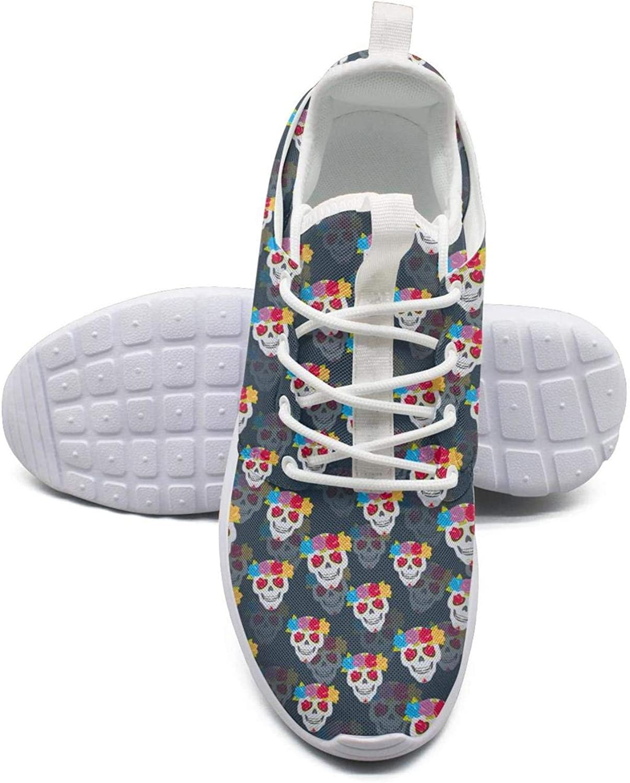 ERSER Skull pinks Wreath Print Stability Running shoes Women