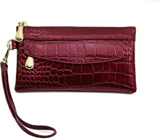 Admirable Idea Zipper Wristlet Wallet Clutch Bag for Women,Waterproof Smartphone Wristlets Purses Handbag