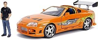 Jada Toys Fast & Furious Brian & Toyota Supra, 1: 24 Scale Orange Die-Cast Car with 2.75