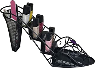 Nail Polish Table Top Storage Rack - Jeweled Decorative High Heel Shoes Cosmetics Tools Organizer Stand